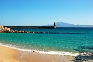 Playa chica, en Tarifa (Cádiz)